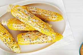 Basil-Parmesan Corn on the Cob
