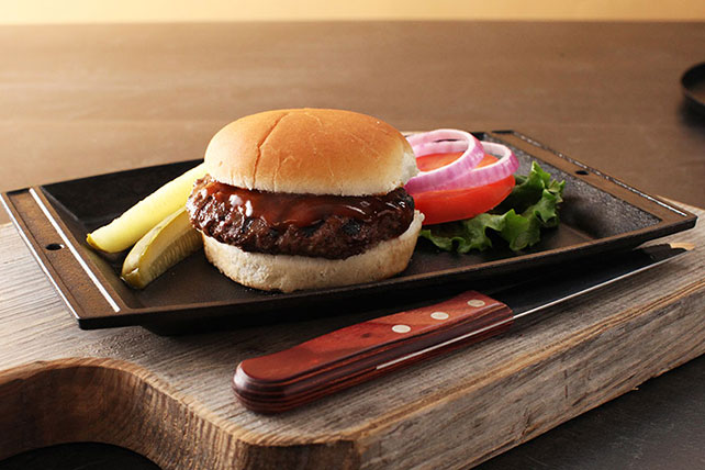 BBQ Grilled Burger Recipe Image 1
