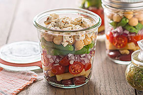 Layered Bean Salad with Feta