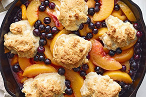 Cast-Iron Peach Cobbler