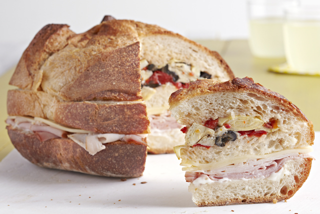 Antipasto Sub Club Sandwich
