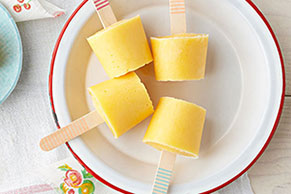 Peach-Yogurt Pops