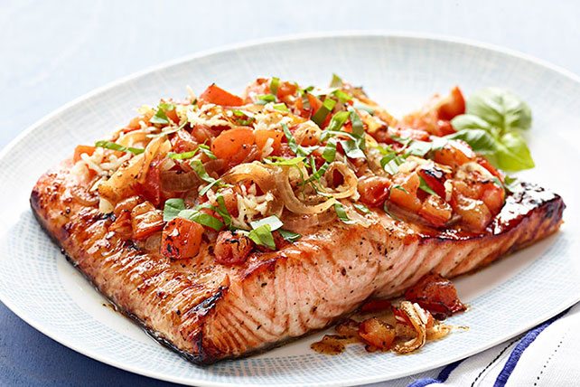 Perfect Grilled Bruschetta Salmon Image 1