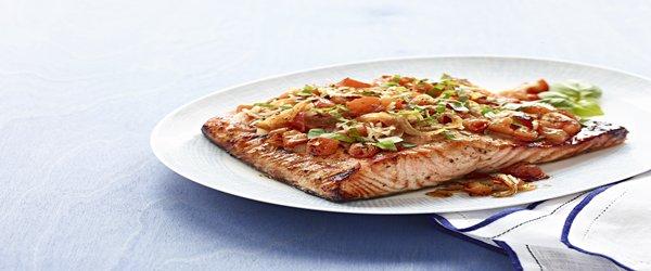 Perfect Grilled Bruschetta Salmon