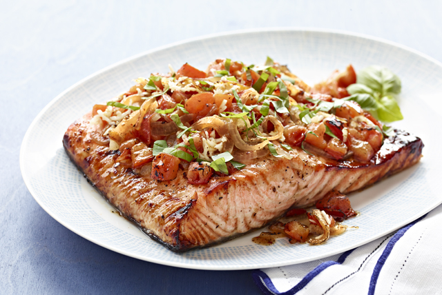 Perfect Grilled Bruschetta Salmon Image 1
