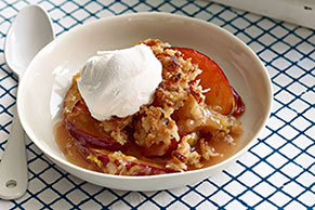 Plum-Coconut Crisp