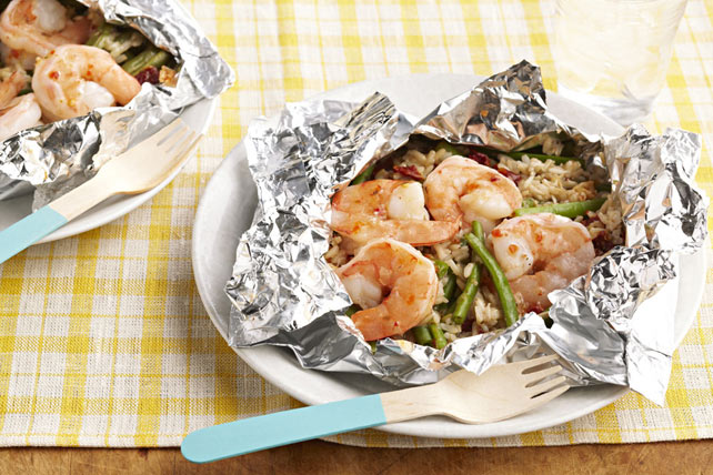 Make-Ahead Shrimp & Rice Bundles