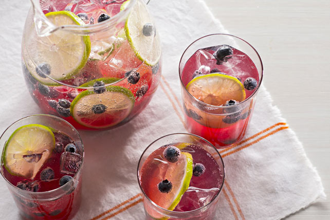 Sparkling Blueberry-Lime Punch Image 1