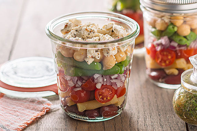 Salade étagée de haricots au féta Image 1