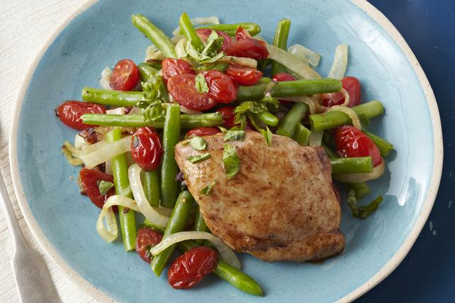 Poêlée de poulet et de légumes au balsamique Image 1