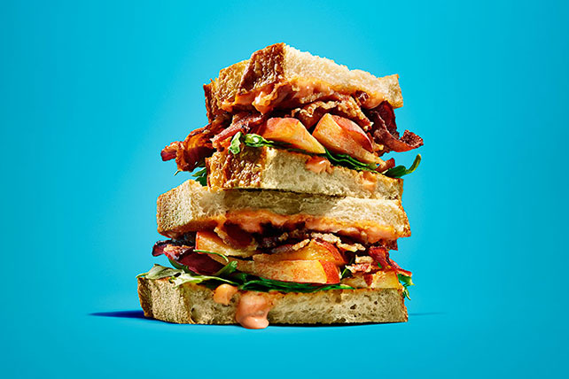 Bacon-Peach Sandwiches Image 1
