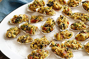 Bacon-Parmesan Grilled Stuffed Clams