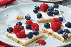 Berries & Cream Shortbread Squares