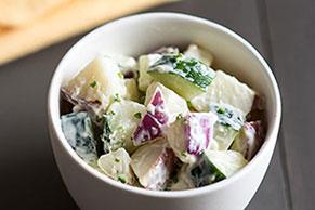 Crunchy Cucumber, Egg & Potato Salad