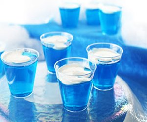 Snow-Capped Blue JELL-O Lakes