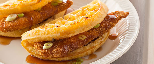 "Chicken 'n Waffle ""Tacos"""