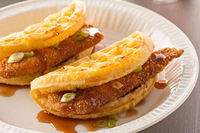 "Chicken 'n Waffle ""Tacos"" Image 1"