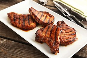 A.1. Sweet Fire Porterhouse Pork Chops