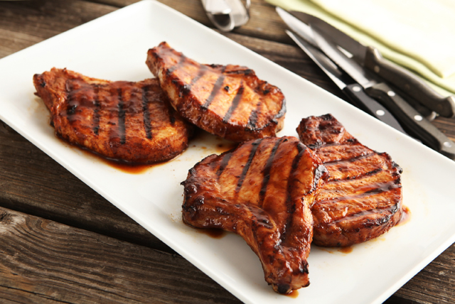 Sweet Fire Porterhouse Pork Chops Image 1