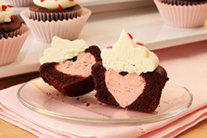 Heart Inside Cupcake Surprise