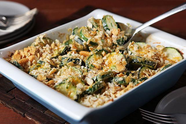Crumb-Topped Cheesy Zucchini Casserole Image 1
