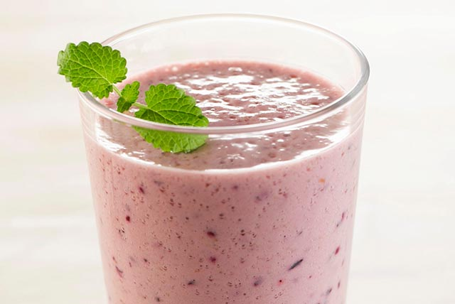Blueberry-Banana Pudding Smoothie Image 1