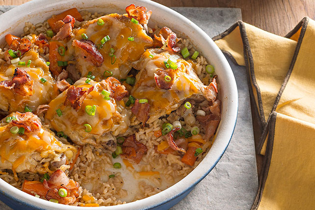 Brown rice chicken bake kraft recipes brown rice chicken bake forumfinder Gallery