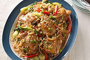 Baked Asian Chicken Thighs