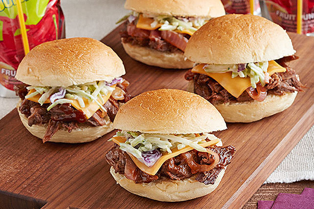 Slow-Cooker Beef Short Rib Mini Sandwiches