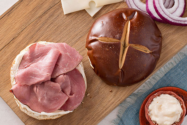 Pretzel Roll-Bavarian Beef Sandwich Image 1