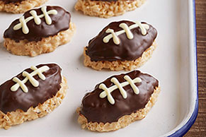 Crispy Football-Shaped Treats