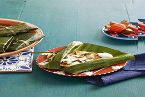 Tamales de calabaza con chiles poblanos