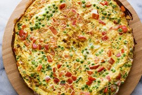 Frittata with Red Peppers & Peas Image 2