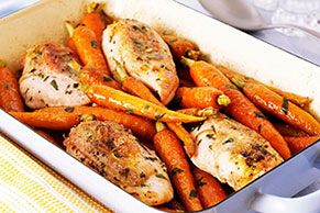 Oven-Roasted Chicken Breasts & Carrots