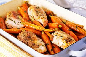 Roast Chicken Breasts with Carrots Image 2