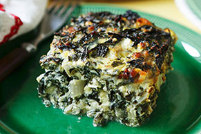 Greek Spinach & Cheese Quiche Squares