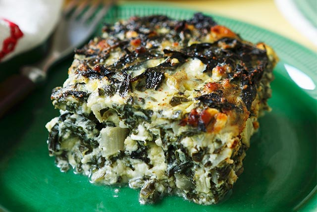 Greek Spinach & Cheese Quiche Squares Image 1