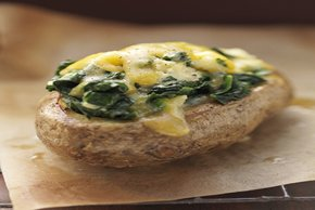 Twice-Baked Potatoes with Spinach and Cheese