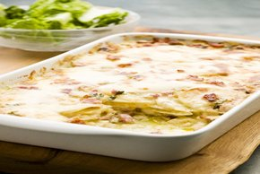 Cheesy Potato-Bacon Gratin