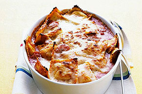 Baked Ravioli with Parmesan