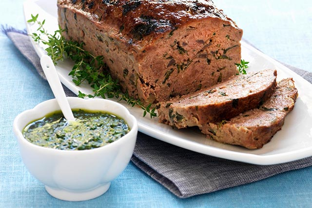 Meatloaf with Herb Sauce Image 1