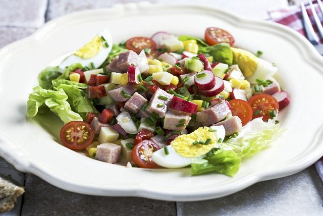 Ham and Egg Garden Salad Image 1