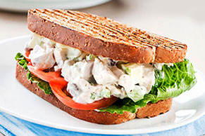 Chicken Salad Sandwiches on Whole Wheat