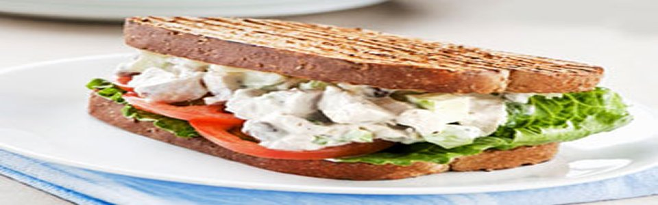 Chicken Salad Sandwiches on Whole Wheat Image 2