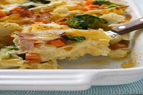 Creamy Pasta Primavera with Ham Image 2