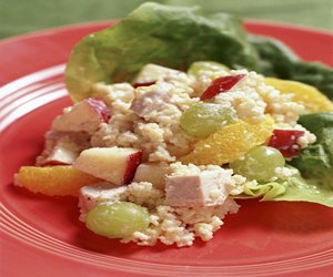 Couscous Salad with Chicken & Fruit