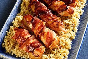Bacon-Wrapped Chicken on the Barbecue