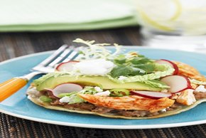 Buffalo Chicken Tostadas