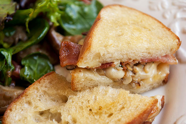 Mushroom-Bacon Grilled Cheese Sandwich Image 1