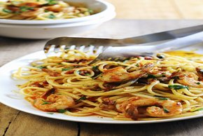Pasta with Spicy Marinara Shrimp